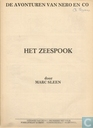 Comic Books - Nibbs & Co - Het zeespook