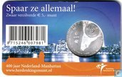 "Munten - Nederland - Nederland 5 euro 2009 (coincard) ""400 years of the discovery of Manhattan island by the Dutch explorer Henry Hudson"""