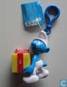 Joke Smurf with present (yellow-red)