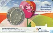 "Netherlands 5 euro 2012 (coincard) ""400 years of diplomatic relations between Turkey and Netherlands"""