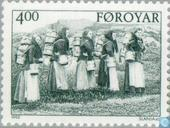 Postage Stamps - Faroe Islands - Life around 1900