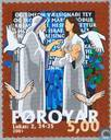 Postage Stamps - Faroe Islands - Biblical scenes