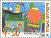 Postage Stamps - Faroe Islands - Drawing Contest
