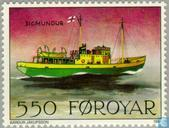 Postage Stamps - Faroe Islands - Postal Ships
