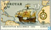 Postage Stamps - Faroe Islands - Europe – Discovery of America