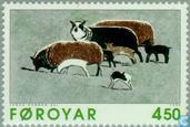 Postage Stamps - Faroe Islands - Etching