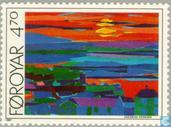 Postage Stamps - Faroe Islands - Paintings Torshavn