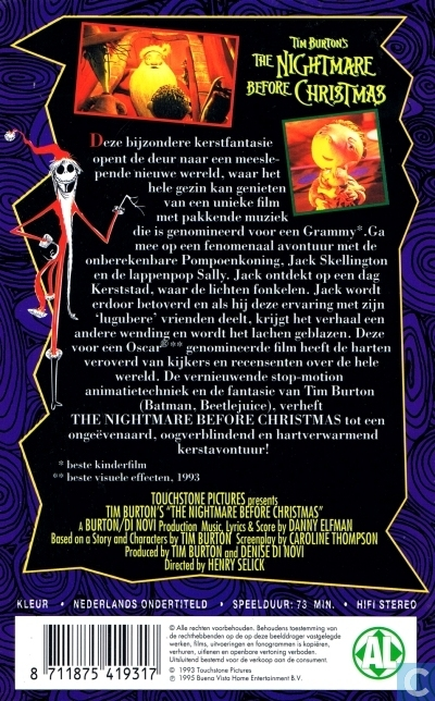 The Nightmare Before Christmas - VHS video tape - Catawiki