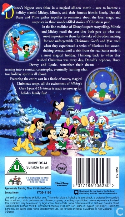 Mickey Once Upon A Christmas.Mickey S Once Upon A Christmas Vhs Video Tape Catawiki