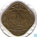 Inde britannique ½ anna 1943 (INDIA)