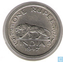 British India 1 rupee 1947 (Lahore)