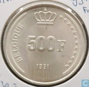 "België 500 francs 1991 (FRA) ""40th Anniversary of Reign"""