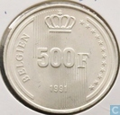 Belgium 500 francs 1991 (German)
