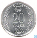 Indien 20 Paise 1984 (Hyderabad)