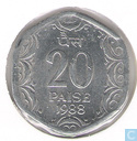 Indien 20 Paise 1988 (Hyderabad)