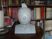 Bust of Tintin Monochrome grey