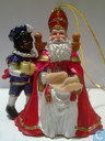 Saint-Nicholas sitting +Black Peter
