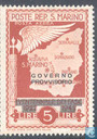 Timbres-poste - Saint-Marin - Mentions légales Governo / Provisorio