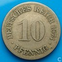 Empire allemand 10 pfennig 1874 (B)