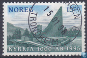 Postage Stamps - Norway - 1500 blue / green