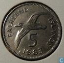 Falkland Islands 5 pence 1983