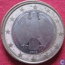 Germany 1 euro 2002 (F - misstrike)