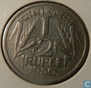 India ½ rupee 1950 (Calcutta)