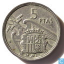 Spain 5 pesetas 1957 > This is a non-existent year <