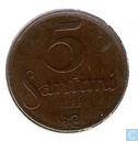 Latvia 5 santimi 1922 (with mint mark)