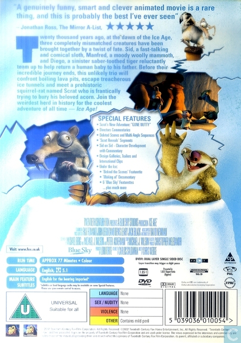 ice age dvd catawiki