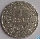 German Empire 1 mark 1885 (J)