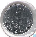 Moldavie 5 bani 2001