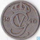 Sweden 50 öre 1920 (oval 0)