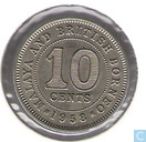 Malaya and British Borneo 10 cents 1958