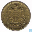 Monaco 2 francs (aluminium - bronze - without year - 1945)
