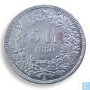 Switzerland 5 francs 1850