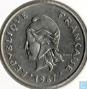 New Hebrides 20 francs 1967