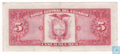 Billets de banque - Banco Central del Ecuador - Equateur 5 Sucres