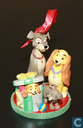 Lady and Tramp with pups ornament