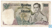 Billets de banque - Thaïlande - 1969-1988 ND Issue (Series 11) - Thaïlande 20 Baht ND (1971-81)