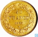 Belgium 40 francs 1834 (coin alignment)