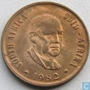 "South Africa 2 cents 1982 ""The end of Balthazar Johannes Vorster's presidency"""