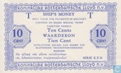 "10 cents Rotterdamsche Lloyd ""Ships money"""