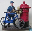 postman with bicycle