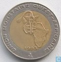 West-Afrikaanse Staten 250 francs 1993
