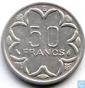 Coins - Central African Republic - Central African States 50 francs 1977 (E)