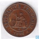 French Indochina 1 cent 1892