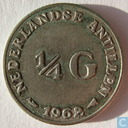 Netherlands Antilles ¼ gulden 1962