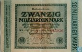 Millarden Mark 1923 Germany 20