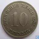 German Empire 10 pfennig 1875 (C)